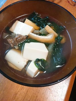 豆腐と油あげのおつゆ