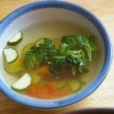 夏野菜の寒天スープ