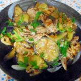 豚肉とナスのキムチ炒め