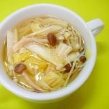 白菜とえのきしめじのコンソメスープ