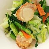 ホタテの塩麹野菜炒め