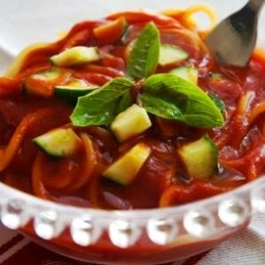 夏野菜の冷製パスタ
