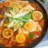 ゆず風味の和風キムチ鍋