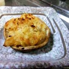 秋味♪しいたけに、里芋の味噌マヨ 詰めました