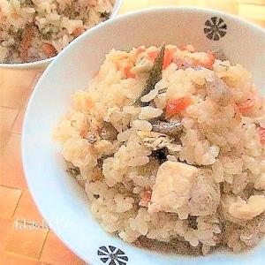 めんつゆで簡単!鷄肉と舞茸の炊き込みご飯