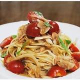 ツナとミニトマトの冷製スパゲッティーニ