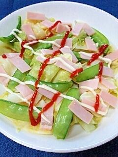ケチャマヨで☆キャベツとハムのサラダ♪
