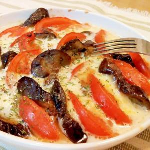 ♪茄子とトマトの簡単チーズ焼き♪