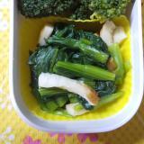小松菜と竹輪の煮浸し(2020.1.28のお弁当)