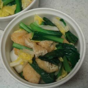 白菜と小松菜のレンジ煮びたし