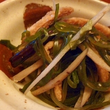 切り昆布とごぼうのあっさり煮物