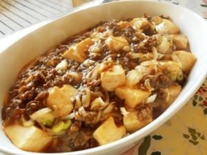 おうちの材料で麻婆豆腐