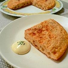 豆腐入りでふんわり~納豆キムチの丸いオムレツ
