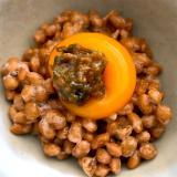 春っぽく*納豆の蕗の薹味噌のせ