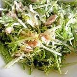水菜とツナの簡単ガーリックマヨサラダ♪