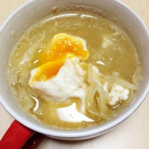 細切り大根と落とし卵の味噌汁