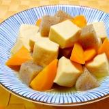 こんにゃくと人参と高野豆腐の煮物
