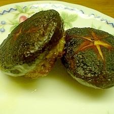 椎茸の肉詰め焼き