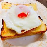 朝ご飯にぴったり!目玉焼きトースト