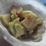 ブロッコリーの茎でザーサイ風炒め