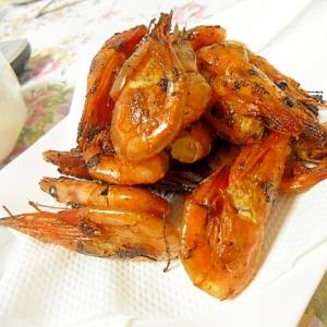 バター香る 甘エビのカリカリ揚げ焼き 簡単おつまみ