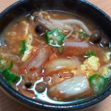 キムチで簡単!韓国風卵スープ