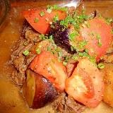 簡単☆牛肉と茄子とトマトのさっぱり炒め