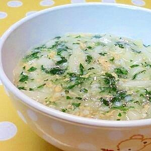 【離乳食】しらす&小松菜の煮込みうどん