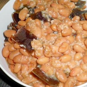 塩麹で昆布豆