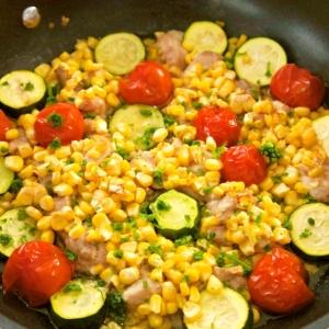 チキンと夏野菜のバタポンロースト