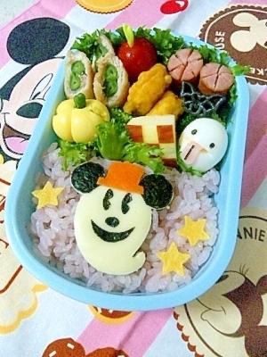 キャラ弁☆ハロウィン ミッキーおばけのお弁当♪
