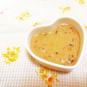 黄粉とあんこの豆乳シロップ