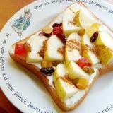 フレッシュ♪水切りヨーグルトと青い林檎のトースト