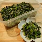 ご飯にのっけて♪かき菜としらすの炒め物☆