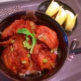 角煮風⁈ぷたぷた車麩と豚の生姜焼き丼