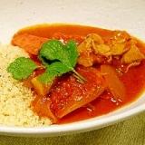 モロッコ風塩麹チキンと野菜のクスクス