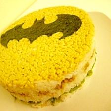 ハロウィンに★バットマンna寿司ケーキ☆