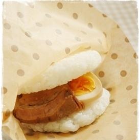 角煮&煮卵✿ライスバーガー