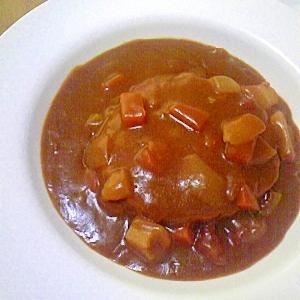 トマトカレーで煮込ハンバーグ☆彡