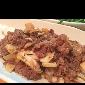 牛肉のニンニク生姜炒め