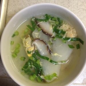 椎茸とかぶの卵スープ