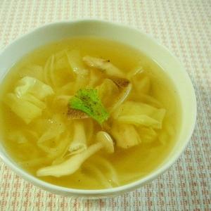 キャベツとしめじのスープ