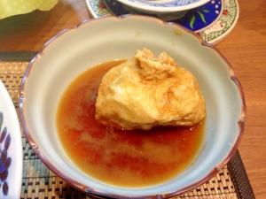 レンジで簡単♪油揚げの卵巾着 柚子胡椒風味♪
