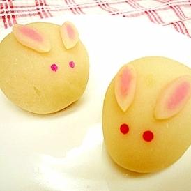 可愛らしい和菓子を作るなら☆ うさぎまんじゅう