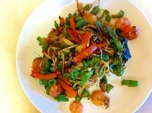 えびと野菜のガーリック炒め