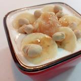 美的 バナナとミルクジャムと炒り大豆のヨーグルト