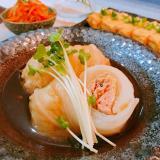 和風でヘルシー♡鮭のロール白菜