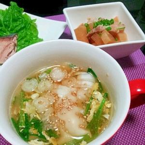 ★餃子のニラ玉スープ★