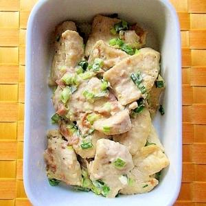 作り置きにも♪鶏むね肉の梅マヨポン炒め