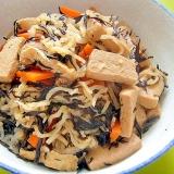 乾物いっぱい☆切り干し大根高野豆腐ひじきの煮物